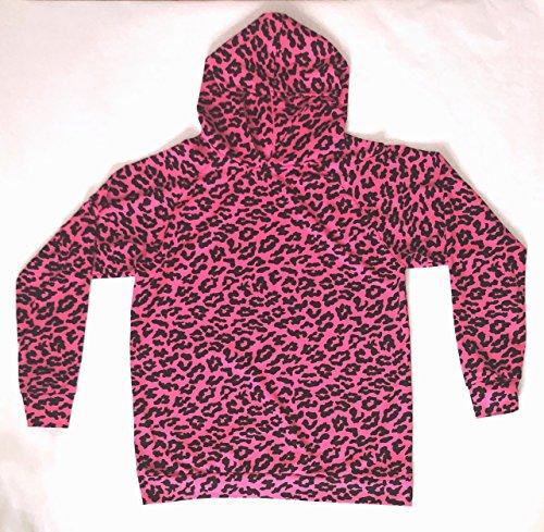 Retro/Classic Fitting Cheetah Printed Sweatshirt