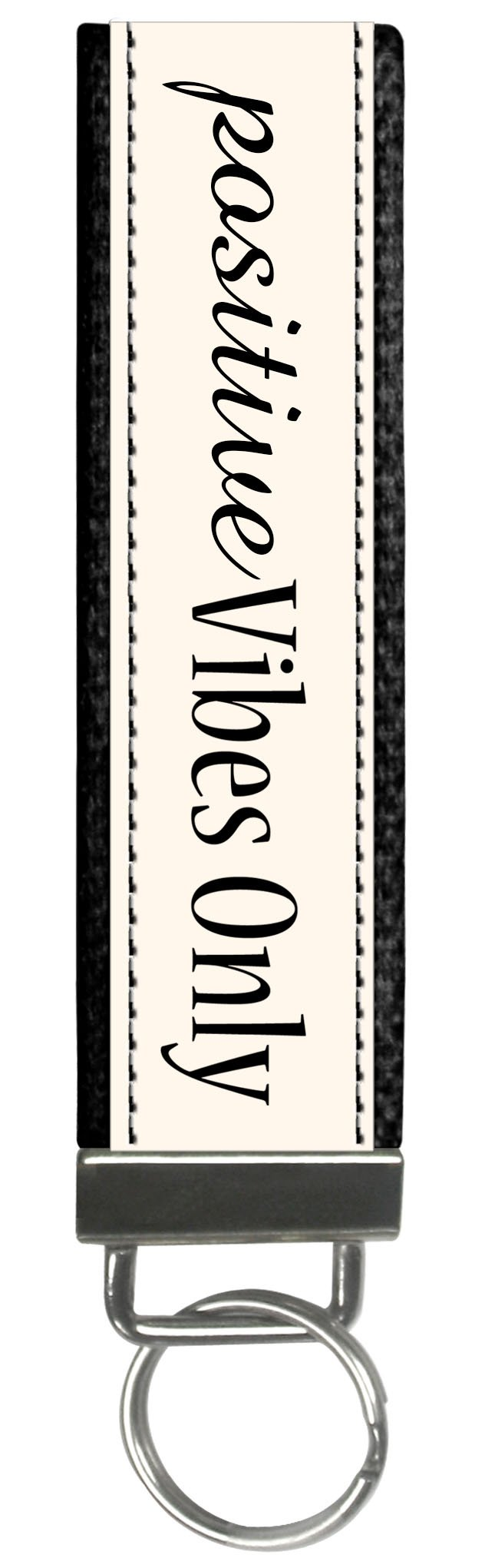 Snaptotes Trendy Motivational Positive Vibes Only Wristlet Keychain by Snaptotes (Image #1)
