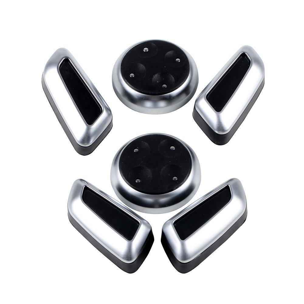 Set of 6pcs Chrome Seat Adjustment Switch Cover Trim For Audi A3 A4 A5 A6 A7 B8 Q3 Q5 VW Tiguan
