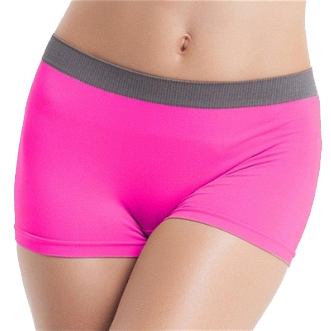 meizu88 Women's Sports Stretchy Comfy Breathable Boxer Briefs Yoga Fitness Underwear