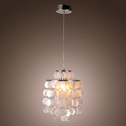 premium selection 08172 7ae3e LightInTheBox Mini White Shell Pendant Chandelier (Chrome Finish) [Kitchen]