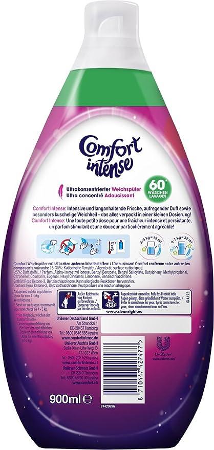 Comfort Intense Suavizante Fucsia Passion (Rosa) 60 lavados, 3 ...