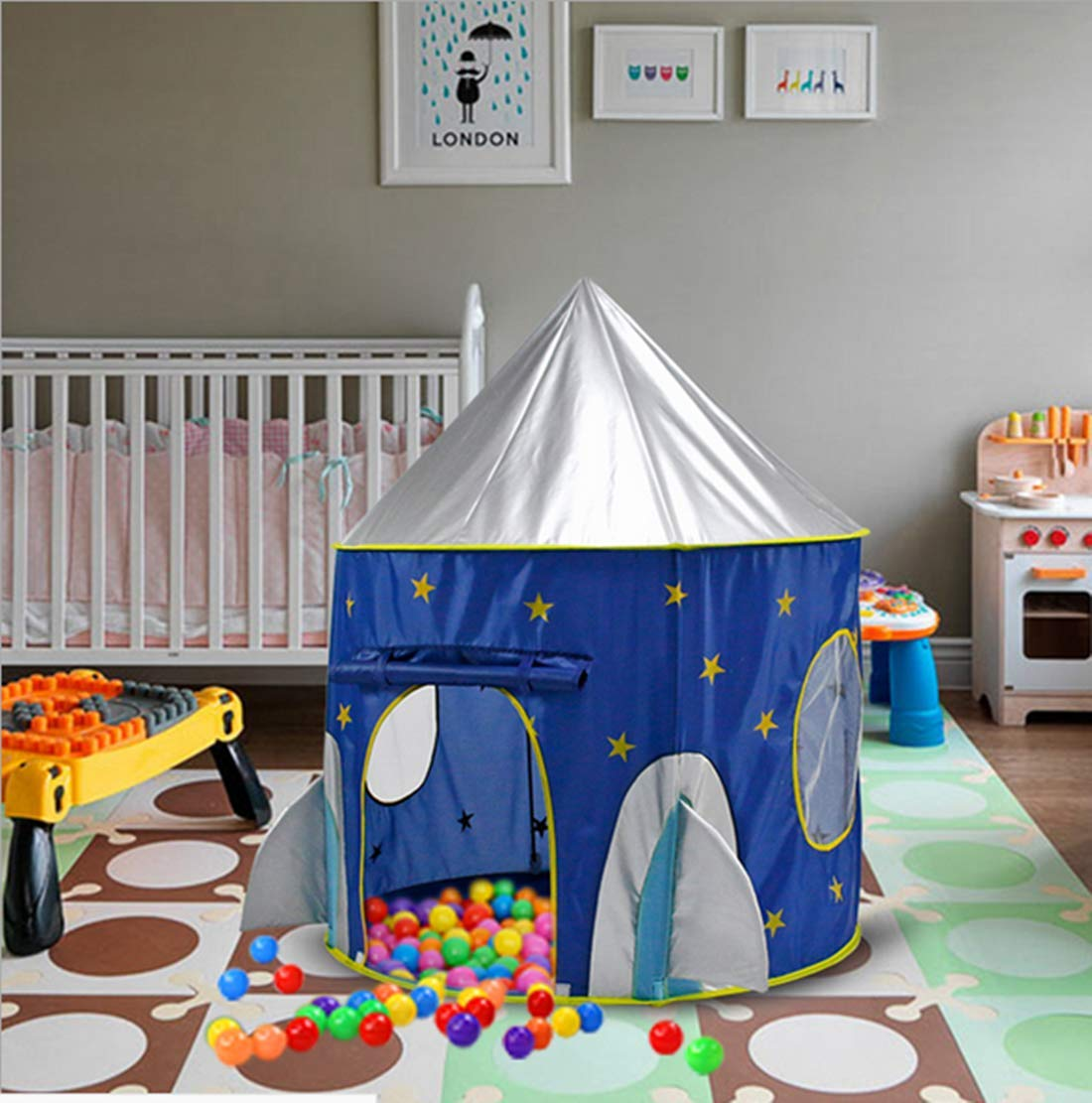 Parent-Child Interactive Castles Yurts Beneyond Childrens Indoor and Outdoor Game Tents Toy Houses Space Capsules Childrens Tents,Play Tent Children/'s Tents/,Play Tent Bunfunny