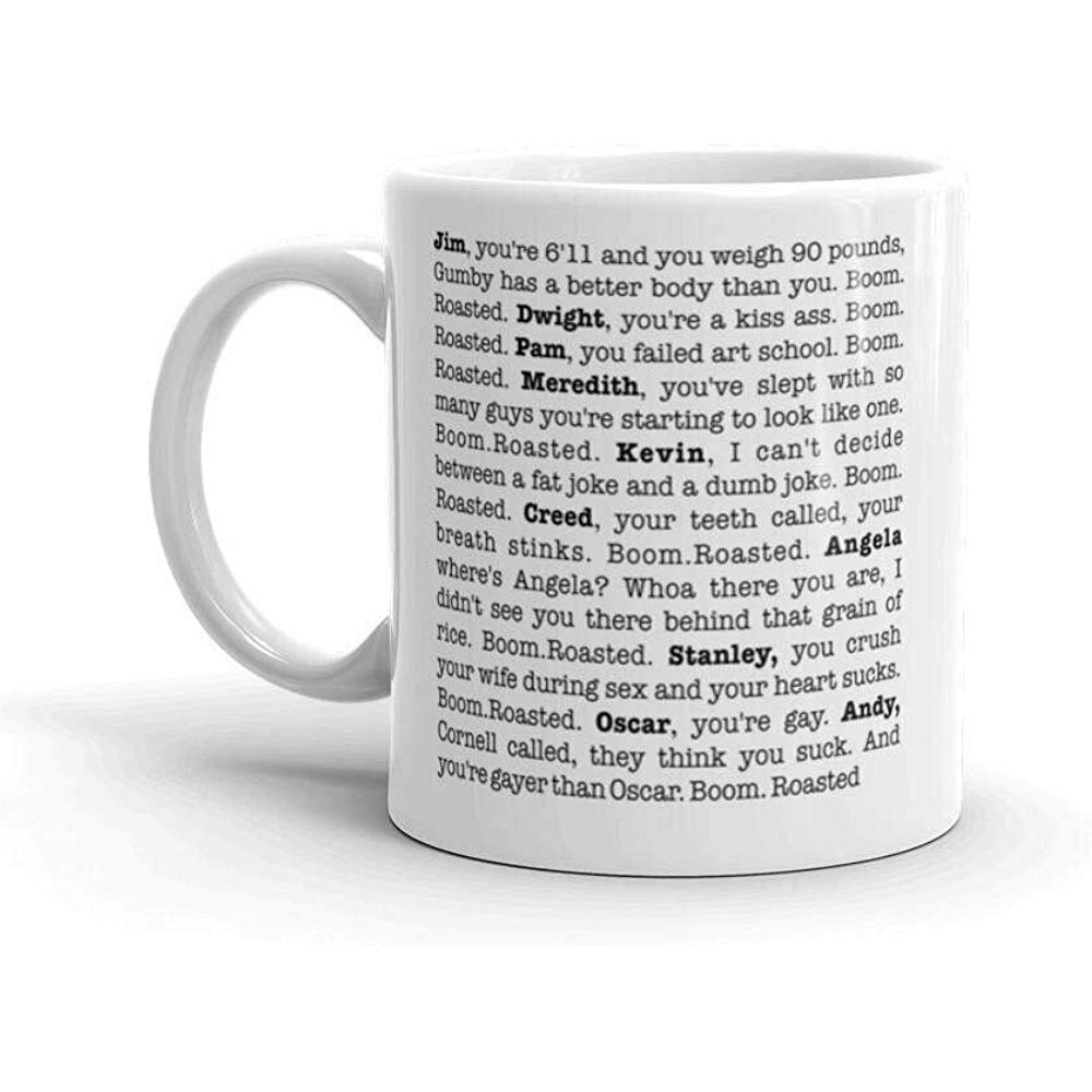 AmyNovelty Tazza di Ceramica,The Office Boom Roasted Mug da 11 Once