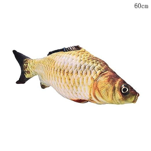 1 pcs pescado forma decorativa cojín manta almohada con ...