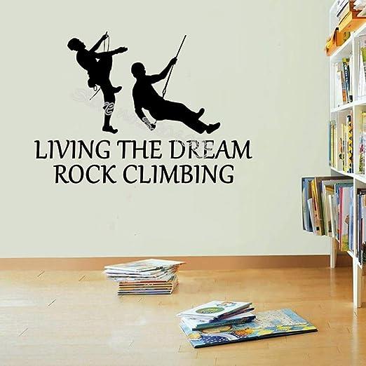 WALSITK Living The Dream Escalada en Roca Cita Pegatinas de Pared ...