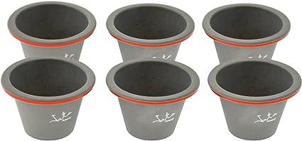 Jata Hogar MC Set de Moldes Flaneros, Silicona, modelo MC67, Gris, 32.5x25x10.5 cm, 6 Unidades