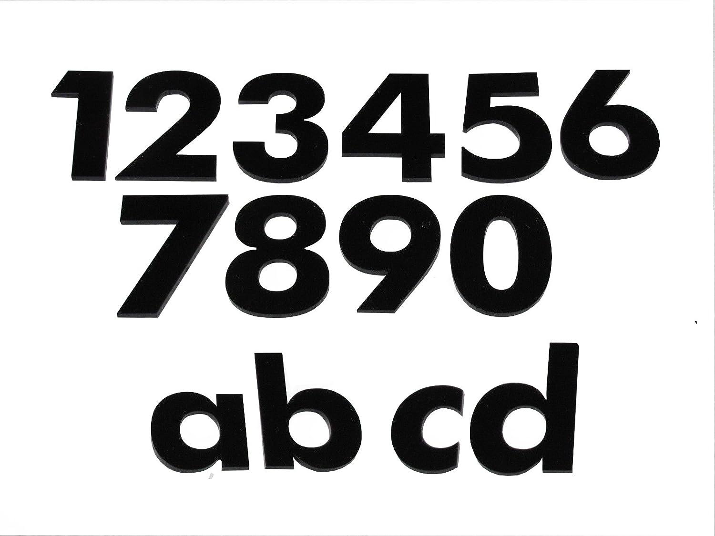 tr/ès beau design et tr/ès simple num/éros noir Num/éro d-h/ÖHE 65 mm r/ésistant aux intemp/éries