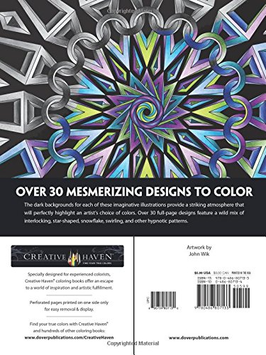 Creative Haven Infinite Illusions Coloring Book Eye Popping Designs On A Dramatic Black Background Adult John Wik 0800759807130 Amazon