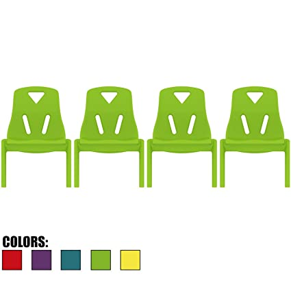 d0ac39fea75 Amazon.com: 2xhome Set of Four (4) - Kids Size Plastic Side Chair 10 ...