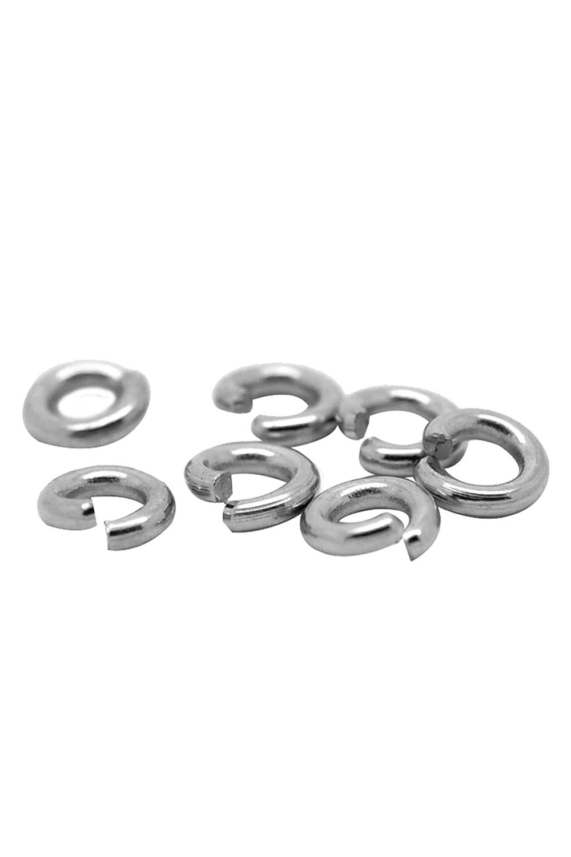 HooAMI 500pcs Anneaux de Jonction en Acier inoxydable Ouvert Accessoires de bijoux pour DIY Création de BIjoux TY Anneaux-500pcs
