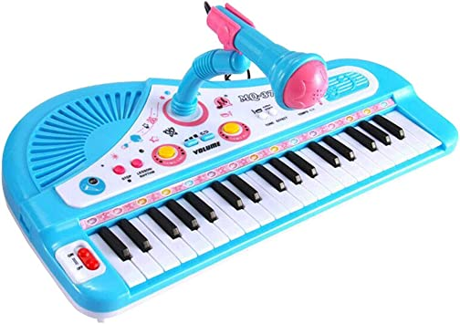 TOYANDONA Piano electrónico para niños 37 Teclas con ...