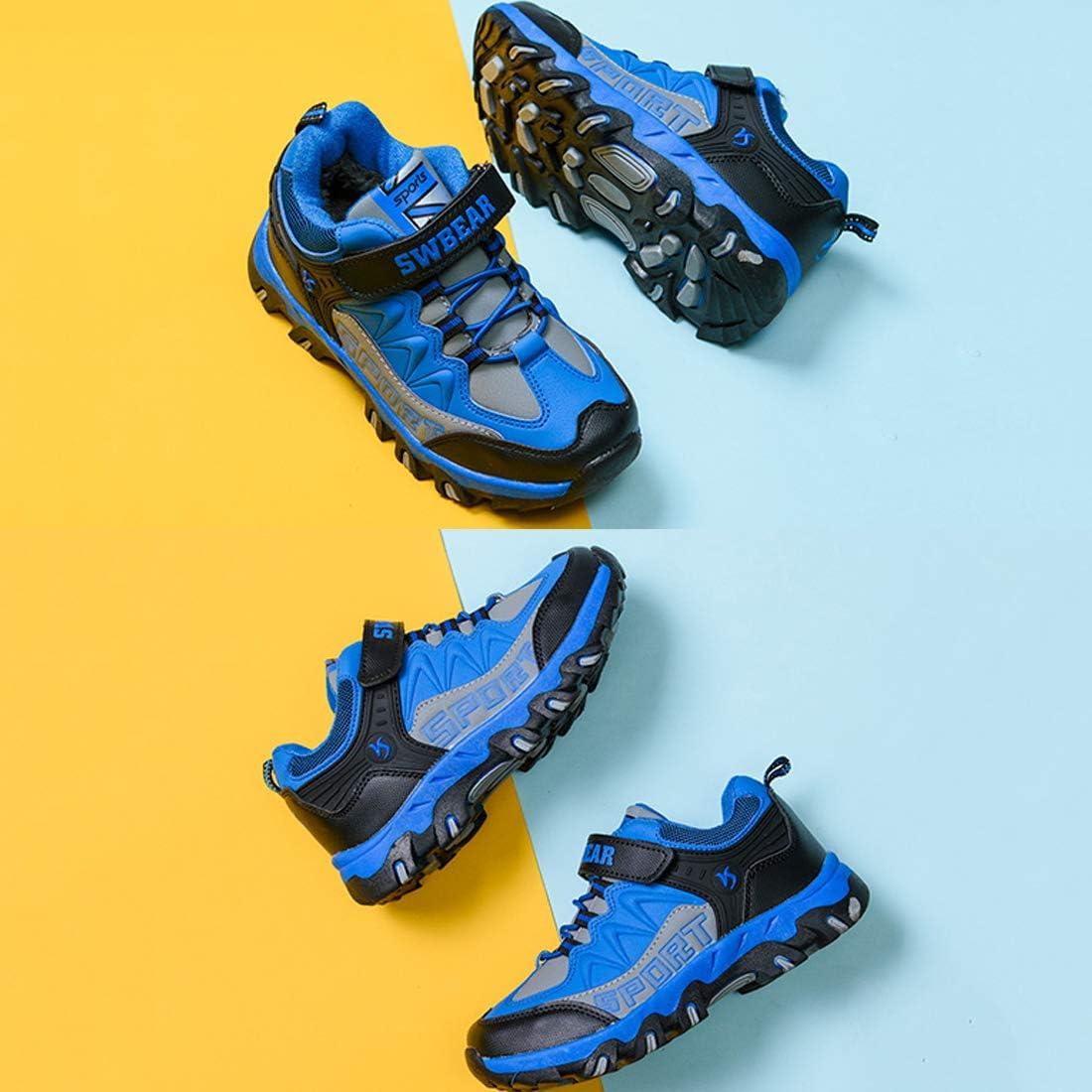 Rokiemen Kids Trekking Hiking Shoes Children Lightweight Waterproof Sneakers Outdoor Walking Camping Shoes for Boys Girls