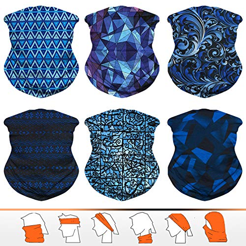 JOEYOUNG Headwear, Bandana, Neck Gaiter, Head Wrap, Headband for Men and Women, Multifunctional Head Scarf, Face Mask, Balaclava, Magic Scarf, Sweatband for Fishing, Yoga, - Mens Scarf Wear