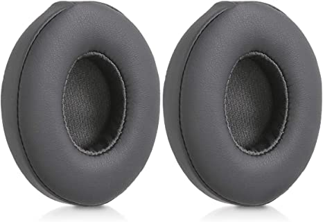 kwmobile 2X Ohrpolster kompatibel mit Beats Solo 2 Wireless 3 Kopfhörer Kunstleder Ersatz Ohr Polster für Overear Headphones