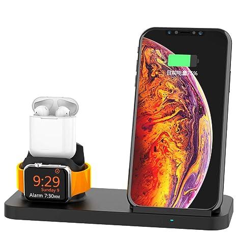 Qi Cargador inalámbrico para iPhone X XS MAX XR 8 USB 10W ...