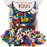 Building Bricks - 1000 Pc Bulk Blocks - Includes 60 Roof...