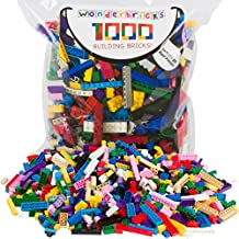 Building Bricks - 1000 Pc Bulk Blocks - Includes 60 Roof Pieces - Tight Fit with Major Brands