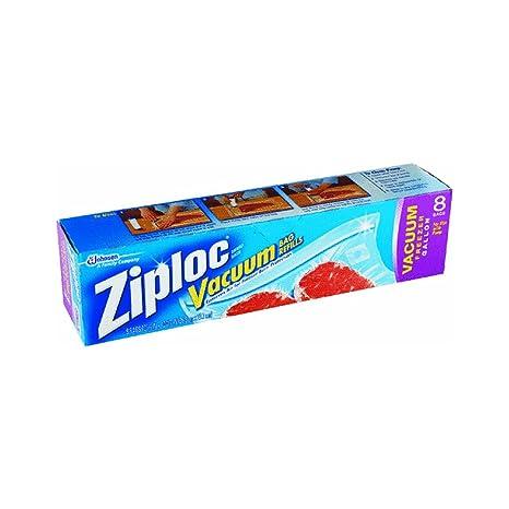 Ziploc Vacuum Bags, Gallon Size, 8 Bags