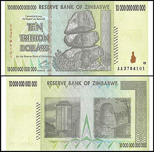 (Zimbabwe 10 Trillion Dollars, AA/2008, P-88, UNC, 50 & 100 Trillion Series)