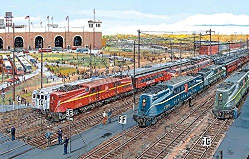 S PENNSYLVANIA RAILROAD GG1 - Pennsy Lineup Jigsaw - Railroad Pennsy Pennsylvania Prr