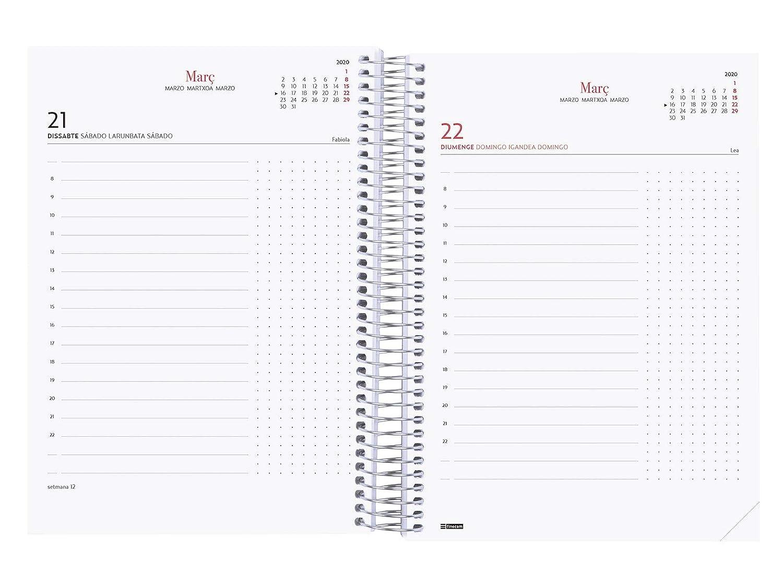 Finocam - Agenda 2020 1 día página Espiral Design Collection Elegant catalán