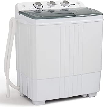 Della Small Compact Portable Washing Machine 11lbs w/ Spin Dryer