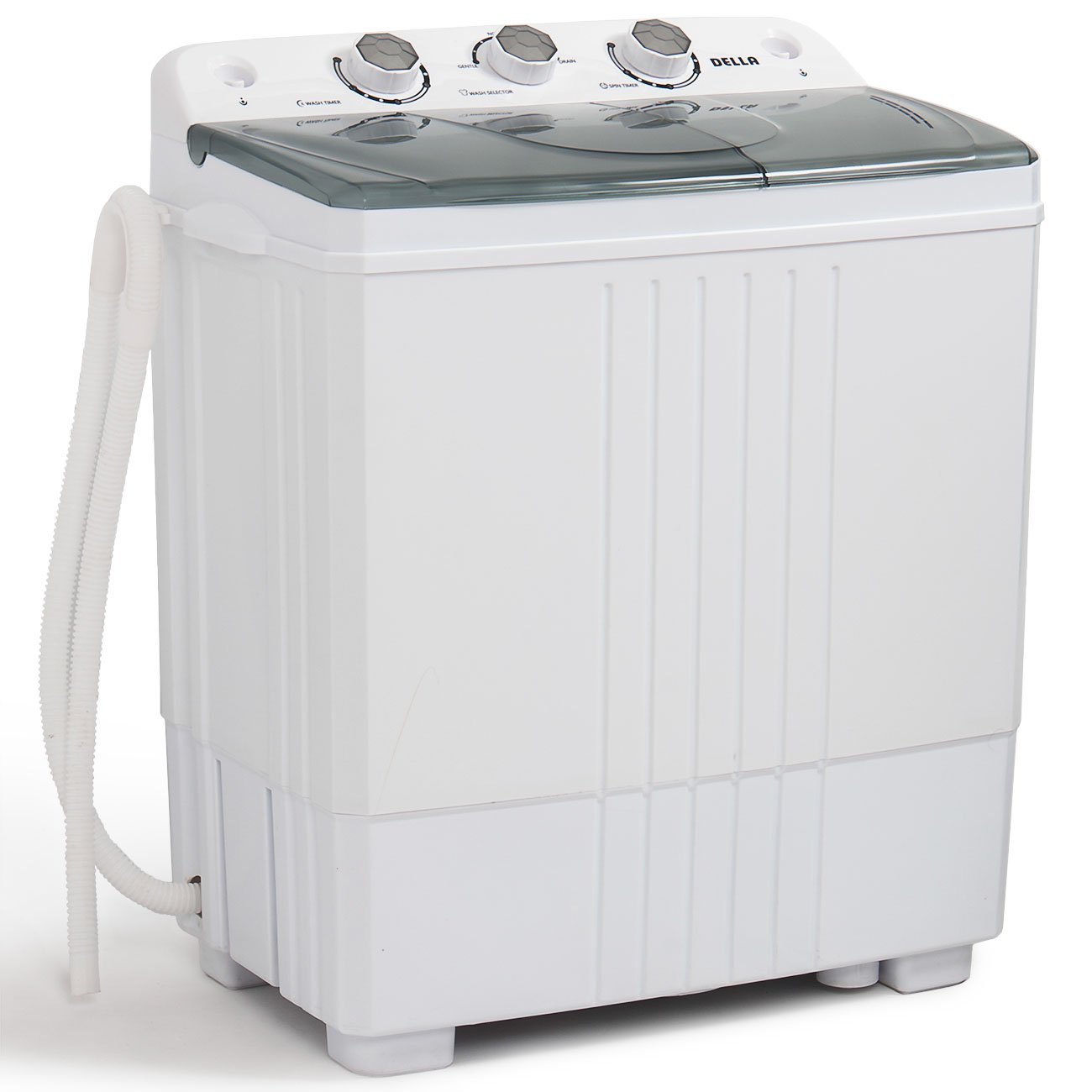 DELLA Small Compact Portable Washing Machine Washer 11lbs Capacity Top Load Laundry with Spin Dryer Combo