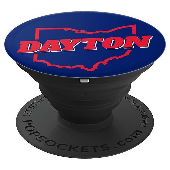 Amazon Com Dayton Ohio Blue Red State Map Pop Socket