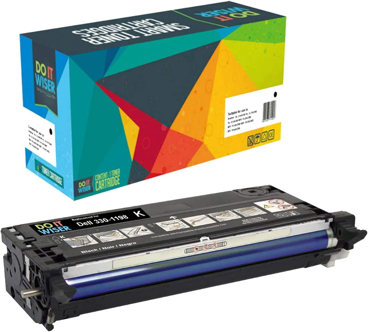 Do it Wiser Compatible Toner Cartridge Replacement for Dell 3130 3130cn - 330-1198 - Black High Yield