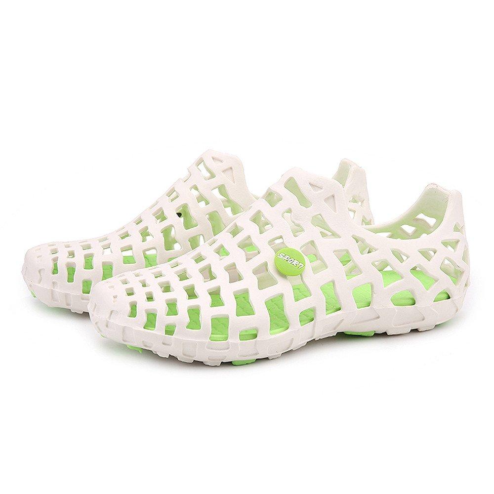 NRUTUP Men Women Unisex Classic Casual Shoes Couple Beach Sandal Flip Flops Shoes White,40
