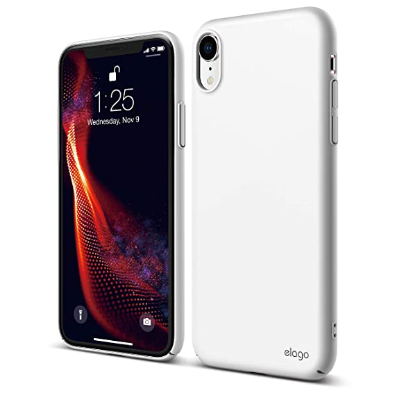 wholesale dealer 78aa7 65501 elago Slim Fit Series iPhone XR case [White] - [Matte Finish][Support  Wireless Charging][Full Covered][Scratch & Minor Drop Protection][Everyday  Case] ...
