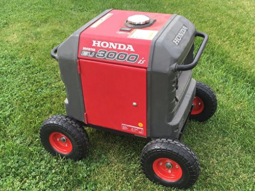 Honda Generator Wheel Kit for EU3000is- SOLID NEVER FLAT TIRES- All Terrain!!- RED COLOR