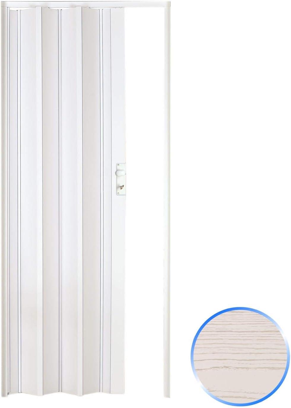 Forte Puerta Plegable de Interior de PVC Pino Blanco 88,5x214 cm Mod.Luciana
