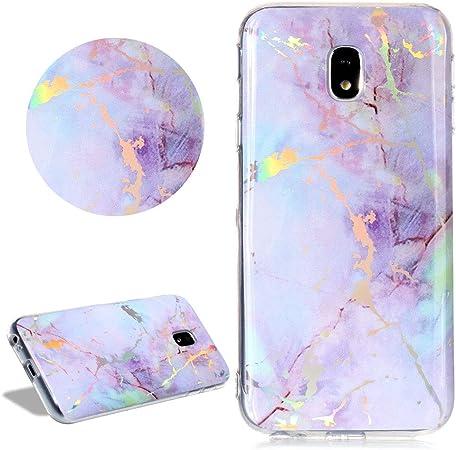 Glitzer Marmor Muster Hülle Für Samsung Galaxy J3 Elektronik