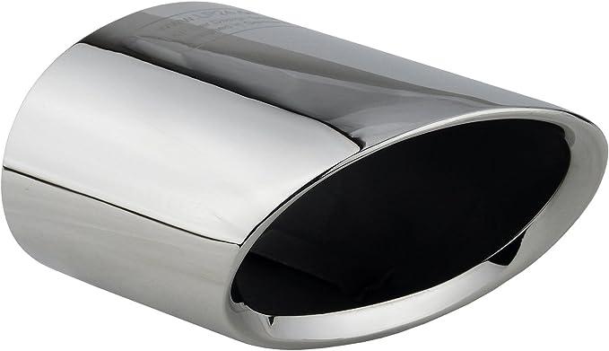 L P A300 Auspuffblende Endrohrblende Edelstahl Spiegel Poliert Chrom Plug Play Ersatzteil Endrohrblenden Silber Kompatibel Mit 1er E81 E82 E87 E88 Lci X1 E84 Auspuff Endrohr Blende Auto