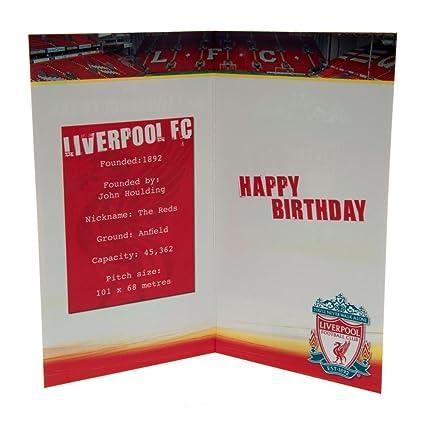 Liverpool Fc Birthday Card No 1 Fan Amazon