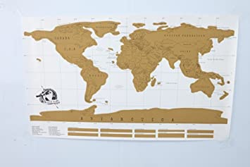Amazon home use deluxe scratch map personalized world scratch home use deluxe scratch map personalized world scratch map mini scratch off foil layer coating poster gumiabroncs Choice Image
