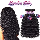 Mornice Hair 10A Brazilian Virgin Hair Deep Wave 3 Bundels 18' 20' 22' Human Hair Extensions 100% Unprocessed Weave Natural Color 100g/bundle
