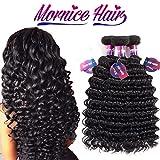 Mornice Hair 10A Brazilian Virgin Hair Deep Wave 3 Bundels 24' 26' 28' Human Hair Extensions 100% Unprocessed Weave Natural Color 100g/bundle