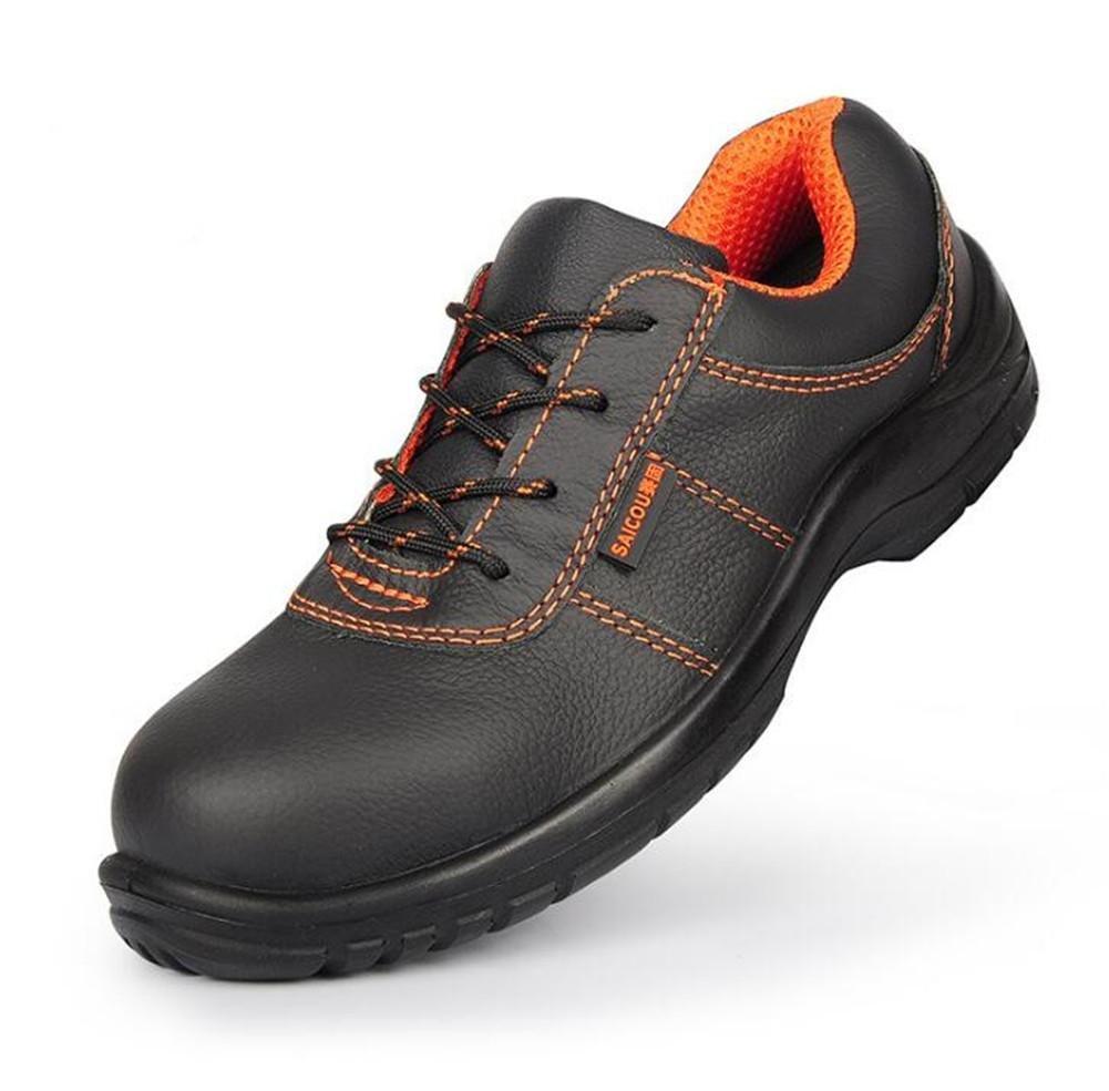 NANXIE Unisexo Adultos Adultos Adultos Cuero Puntera de Acero Trabajo Ligero Zapatos de Seguridad Tamaño 36 a 44, EU43 9d209a