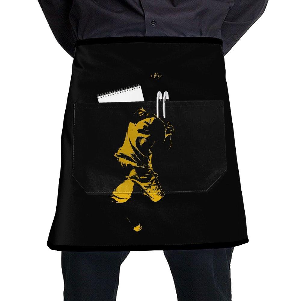 Nicokee シェフエプロン バスケットボール ウエストタイ ハーフビストロエプロン ホームキッチン 料理   B07GCDBG76