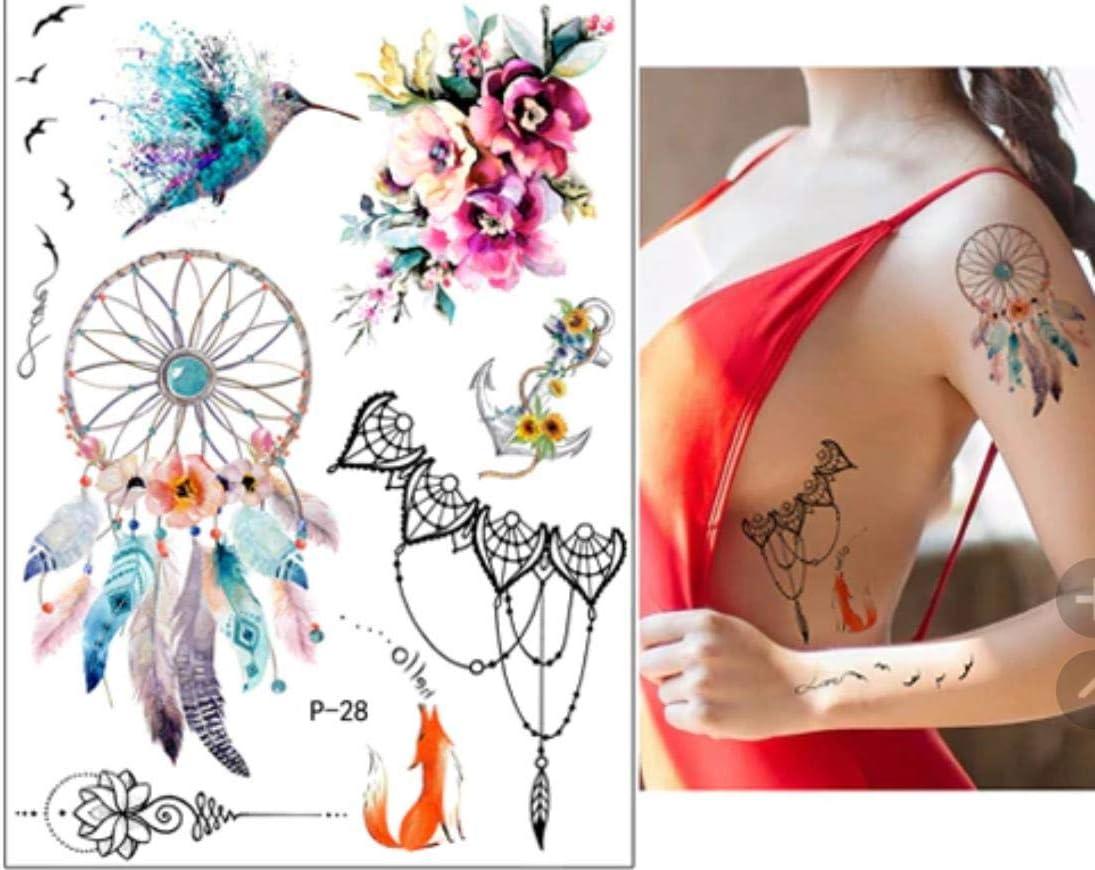 Tattoo piel adhesivo Verano Juego Tatuajes temporales atrapasueños ...
