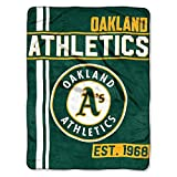The Northwest Company MLB Oakland Athletics Micro Raschel Throw, One Size, Multicolor