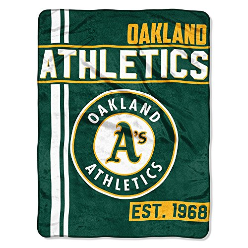Oakland Athletics Blanket - The Northwest Company MLB Oakland Athletics Micro Raschel Throw, One Size, Multicolor