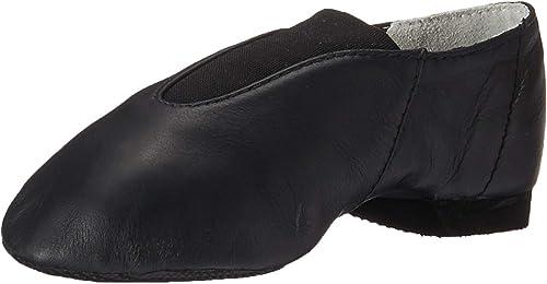 Bloch Dance Girls Super Jazz Leather and Elastic Slip On Jazz Shoe