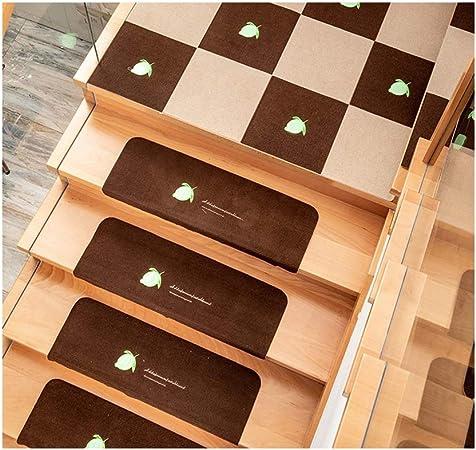 Gyl Alfombras para escaleras Alfombras de Escalera, Pack de 5 Antideslizante Soft Mute Pegamento Libre Autoadhesivo Escalón Alfombra de Su Casa Escaleras Alfombra de Alfombras para escaleras: Amazon.es: Hogar