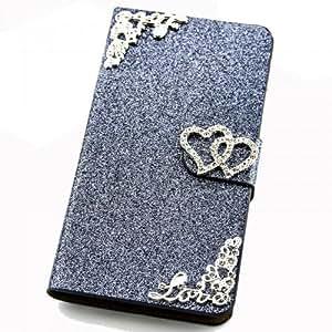 Brillante Funda Para Samsung S7500Galaxy Ace Plus gris Carcasa Funda Bag Bling Case nuevo