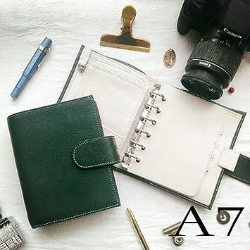 VQEWZ Cuaderno A6 A7 Cuaderno De Cuero Genuino Vintage ...