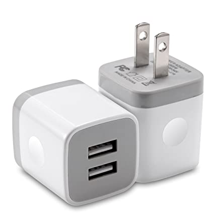 Amazon.com: Cargador de pared LOOGGO Dual Port USB Cargador ...